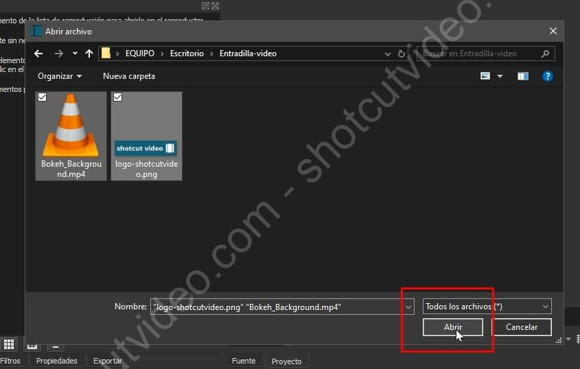 Selección múltiple para abrir varios archivos a la vez