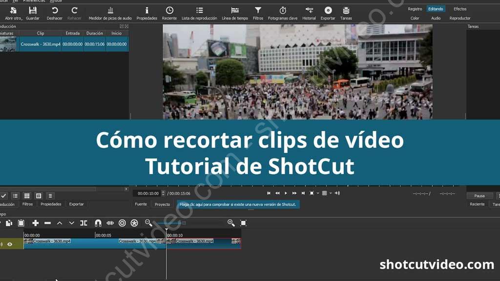 Tutorial sobre cómo recortar vídeo con Shotcut