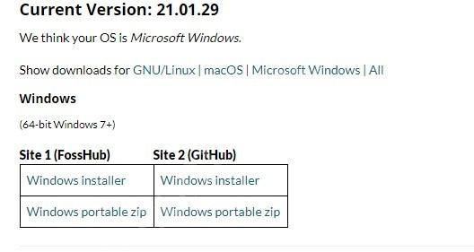 Enlace de descarga de shotcut video para windows