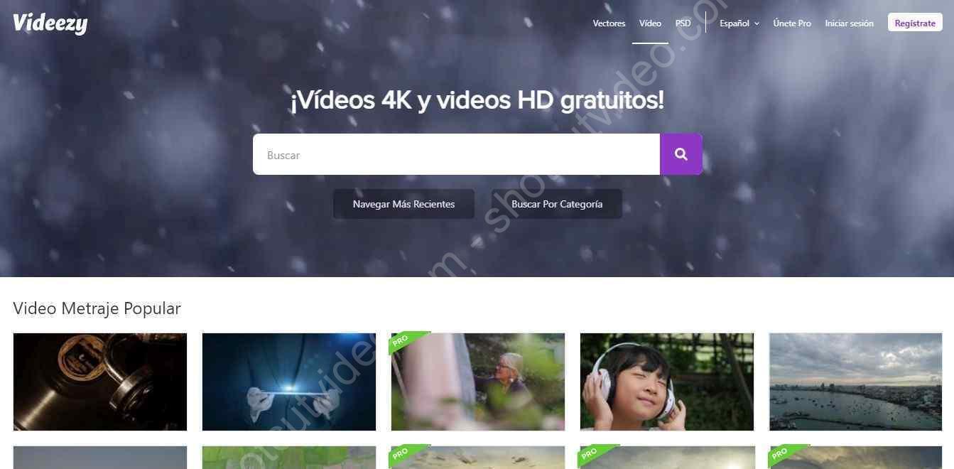 Videezy - clips y vídeos gratuitos