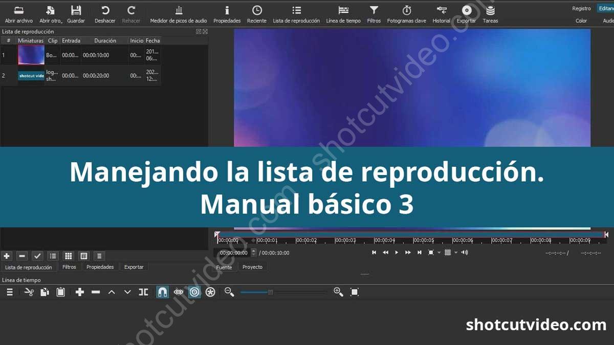 Manual básico 3 - Lista de reproducción