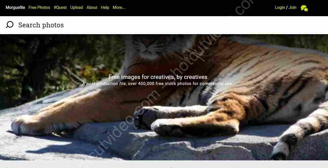 Banco de imágenes gratuito Morguefile