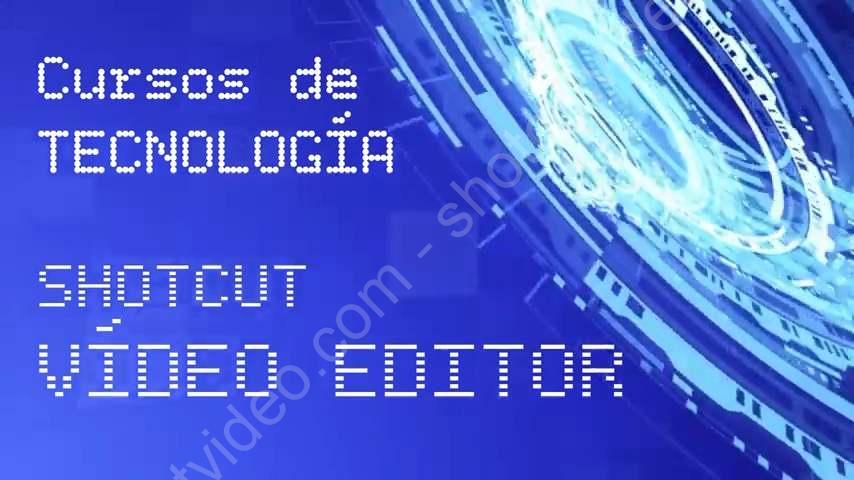 Plantilla descargable en ShotCut para intro de Tecnología