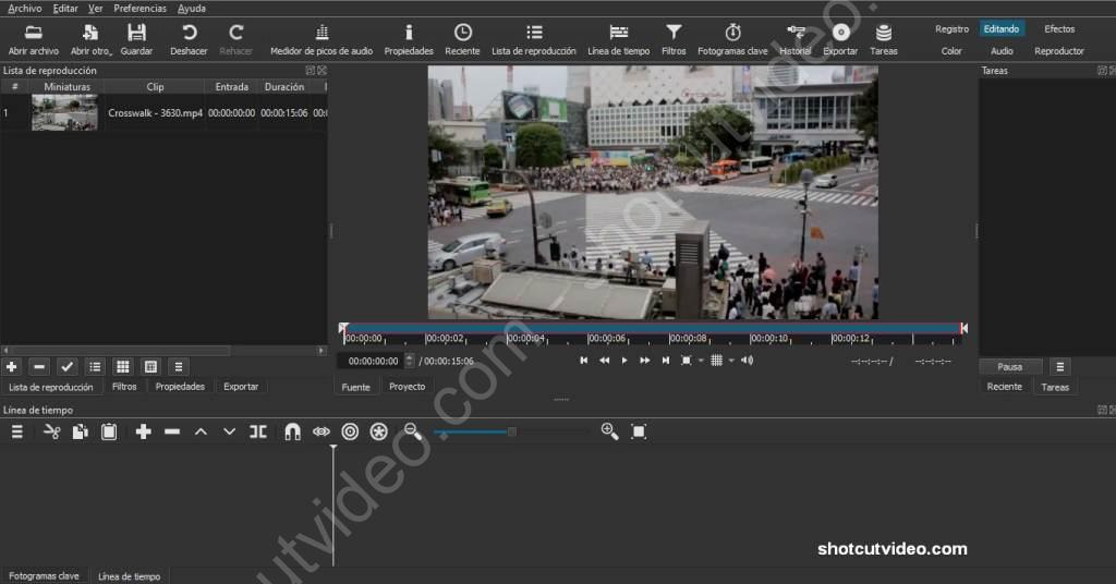 Recortar vídeo con Shotcut 1